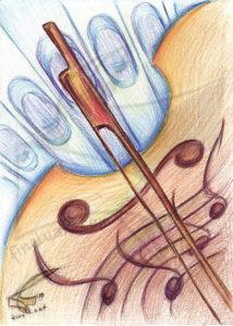 Passion for music: Symphony - принт на картина