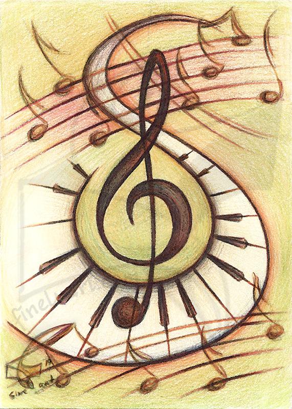 Passion for music: Harmony - принт на картина