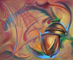 37 шева - картина с масло в топлата гама