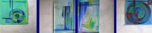 Полиптих Пластове от монолит - маслена живопис