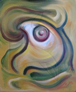Триумф над вечността, маслена живопис сюрреализъм