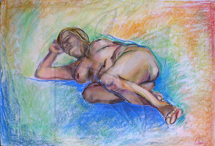 Етюд със сух пастел в галерия живопис Fineluart