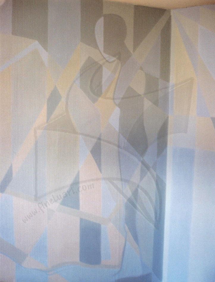 Силуети 2 - композиция с латекс върху стена