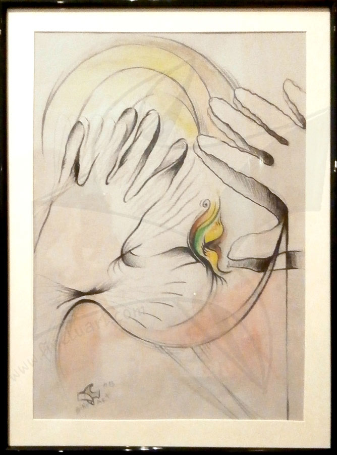 Пеперуда - рисунка смесена техника от Любомира Попова Fineluart