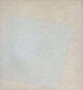 Малевич - Бял квадрат на бял фон