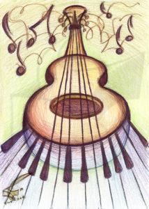 Passion for music: Ballad - принт на картина