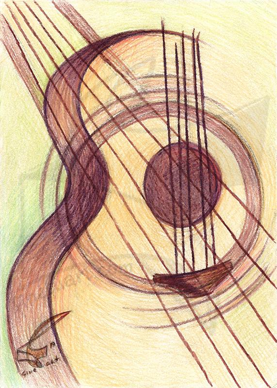 Passion for music: Acoustic - принт на картина