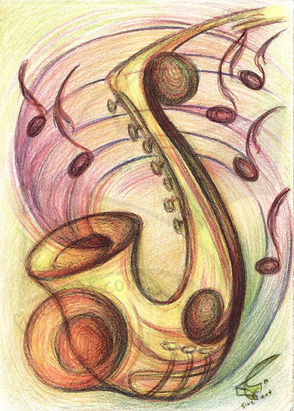 Passion for music: Jazz - принт на картина